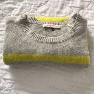 NWOT Rebecca Taylor 100% cashmere striped sweater